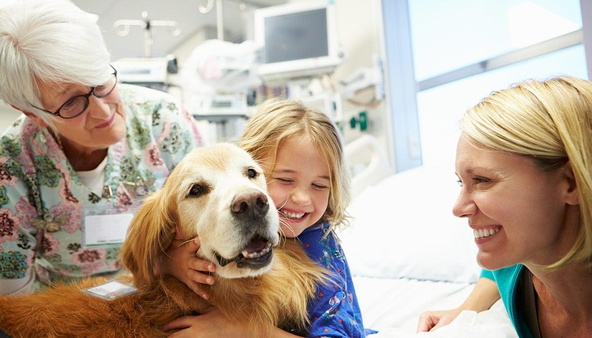 I cani insegnano ai bambini a non aver paura